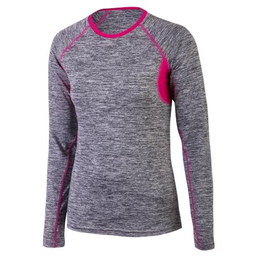 Klimatex Běžecké triko CHANTAL extra large šedá s fuchsiovou