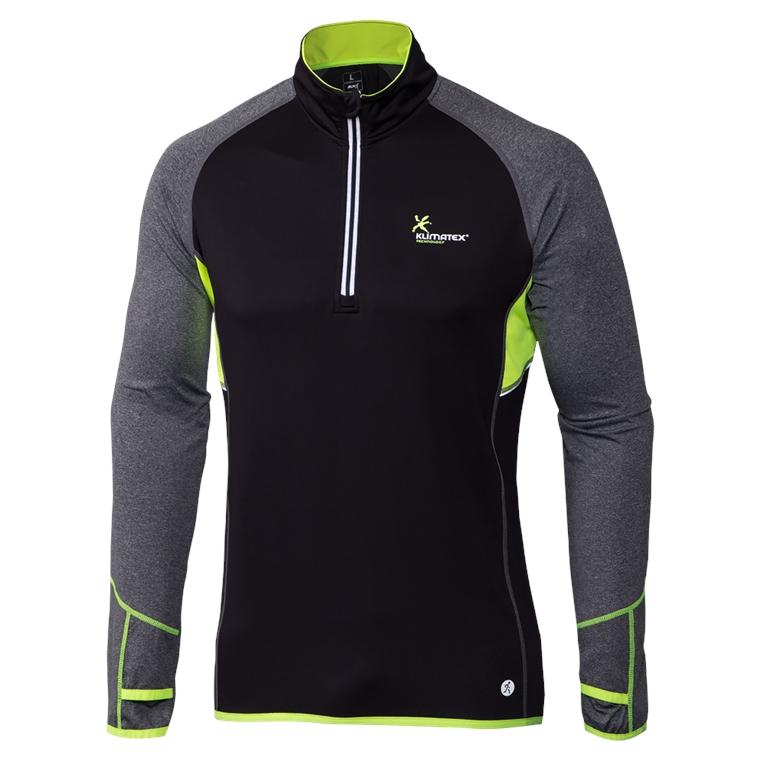 Pánský funkční pulovr DORAN S černá se zelenou