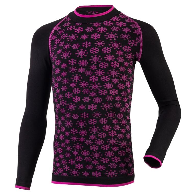 Seamless triko ABBIE 110/122  černá s růžovou